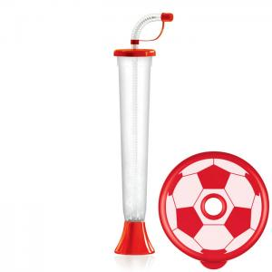 Flat ball cup 400 ml Rot