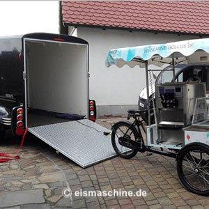 gebrauchte Softeismaschine Frozen Yogurt Bike & Anhänger