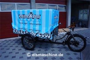 Frozen Yogurt Bike zusammengeklappt