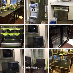 gebrauchte Softeismaschine Café-Einrichtung KOMPLETT