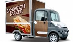 Mega Multitruck für den Sandwich-Verkauf