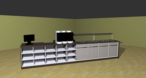 Self-Service-Theke 3D-Visualisierung